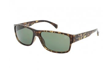 Timberland TB9064 Sunglasses - Dark Havana Frame Color, Green Polarized Lens Color