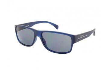 Timberland TB9064 Sunglasses - Matte Blue Frame Color, Smoke Polarized Lens Color