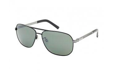 Timberland TB9071 Sunglasses - Matte Black Frame Color, Green Lens Color