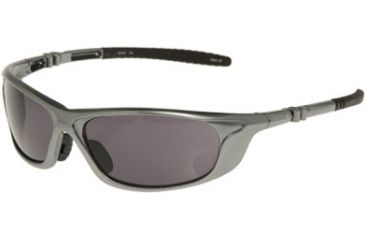 Timberland TB7055 Plastic Wrap Sunglasses w/ Rubber Temple Tip, Pearl Silver Frame & Solid Smoke Lens TB70550010A