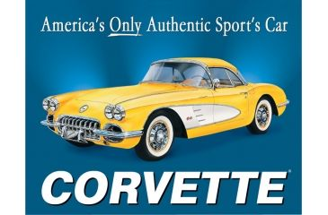 Tin Signs Chevy '58 Corvette Tin Sign | Free Shipping over $49!