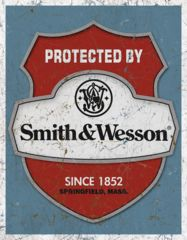 Tin Signs Protected By S&W Tin Sign TSN1682