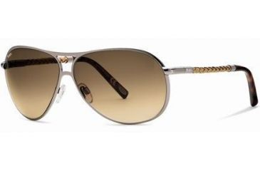 Tod's TO0008 Sunglasses - Shiny Light Ruthenium Frame Color, Gradient Brown Lens Color
