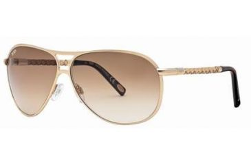 Tod's TO0008 Sunglasses - Shiny Rose Gold Frame Color, Gradient Brown Lens Color