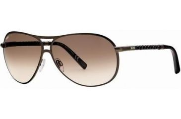 Tod's TO0008 Sunglasses - Shiny Dark Brown Frame Color, Gradient Brown Lens Color