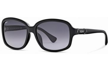Tod's TO0027 Sunglasses - Shiny Black Frame Color, Gradient Smoke Lens Color