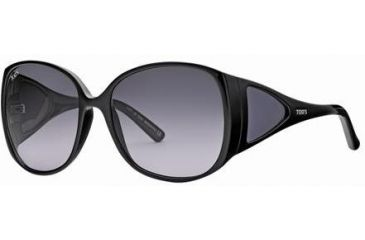 Tod's TO0054 Sunglasses - Shiny Black Frame Color, Gradient Smoke Lens Color