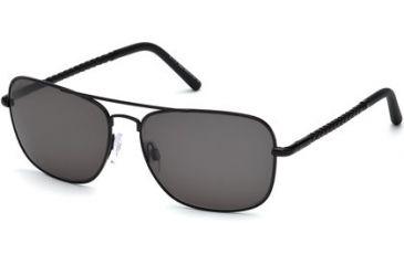 Tod's TO0066 Sunglasses - Matte Black Frame Color, Smoke Lens Color
