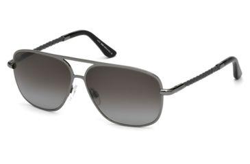 Tod's TO0098 Sunglasses - Shiny Gun Metal Frame Color, Gradient Smoke Lens Color