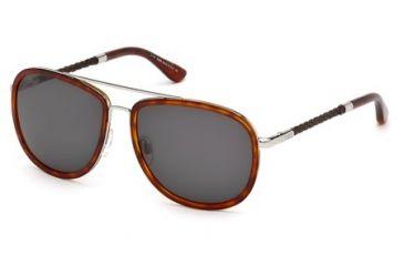 Tod's TO0100 Sunglasses - Blonde Havana Frame Color, Gradient Smoke Lens Color