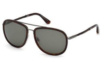 Tod's TO0100 Sunglasses - Dark Havana Frame Color, Green Lens Color