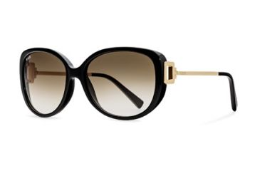 Tod's TO0113 Sunglasses - Shiny Black Frame Color, Brown Gradient Lens Color
