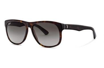 Tod's TO0125 Sunglasses - Dark Havana Frame Color, Gradient Green Lens Color