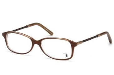 Tod's TO5054 Eyeglass Frames - Dark Havana Frame Color