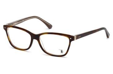 Tod's TO5085 Eyeglass Frames - Havana Frame Color