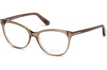 79d21280ce Tom Ford FT5513 Eyeglass Frames - Shiny Light Brown Frame Color