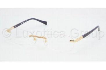 Tory Burch TY 1010 Eyeglasses Styles - Gold Frame w/Non-Rx 51 mm Diameter Lenses, 106-5117