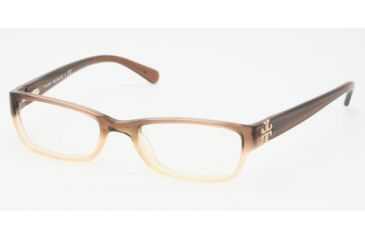 Tory Burch TY 2003 Eyeglasses Styles Brown Fade Frame w/Non-Rx 49 mm Diameter Lenses, 858-4918