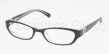 Tory Burch TY2009 Progressive Eyeglasses Black/Crystal Frame / 50 mm Prescription Lenses, 541-5018