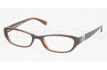 Tory Burch TY 2009 Eyeglasses Styles Putty/Bronze Frame w/Non-Rx 50 mm Diameter Lenses, 513-5018