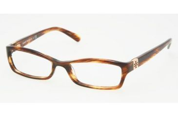 5986246ced4d Tory Burch TY 2010 Eyeglasses Styles Amber Frame w/Non-Rx 49 mm Diameter