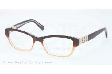 Tory Burch TY 2039 TY2039 Progressive Prescription Eyeglasses 1010-53 - Brown Amber Fade Frame