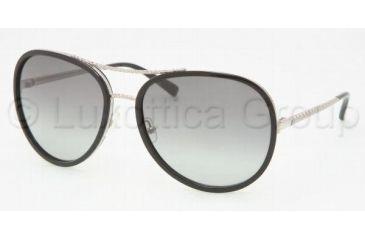 Tory Burch TY 6007 Sunglasses Styles Silver/Black Frame / Grey Gradient Lenses, 285-11-6117
