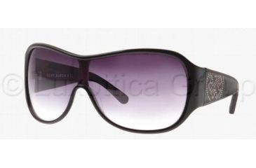 Tory Burch TORY M011B TY7002Q Single Vision Prescription Sunglasses TY7002Q-606-11-0129 - Lens Diameter: 129 mm, Frame Color: Black / White