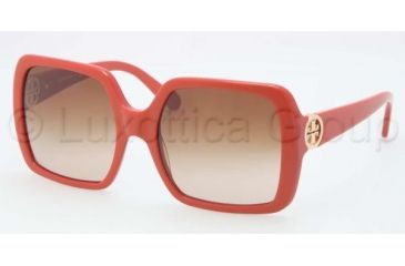 Tory Burch TY 7058 TY7058 Sunglasses 114913-5518 - Orange Frame, Brown Gradient Lenses