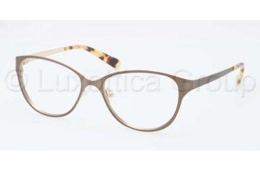 Tory Burch TY1030 TY1030 Progressive Prescription Eyeglasses 434-5315 - Light Brown Gold Frame, Demo Lens Lenses