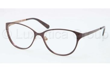 Tory Burch TY1030 TY1030 Progressive Prescription Eyeglasses 435-5115 - Dark Brown/Taupe Frame, Demo Lens Lenses