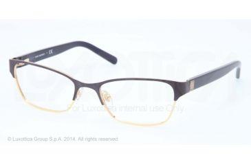 Tory Burch TY1040 Single Vision Prescription Eyeglasses 3031-51 - Satin Navy Gold Frame