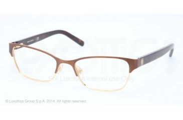 Tory Burch TY1040 Single Vision Prescription Eyeglasses 3032-51 - Matte Brushed Brown Frame