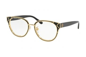 215dd7488b6 Tory Burch TY1055 Eyeglass Frames 3256-50 - Shi Black   Shiny Gold Frame