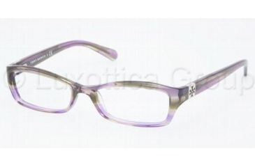 Tory Burch Ty2010 Eyeglasses TY2010 with Rx Prescription Lenses 745-4916 - Purple Tortoise