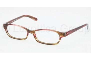 Tory Burch TY2016B Progressive Prescription Eyeglasses 981-5015 - Pink Olive Tortoise
