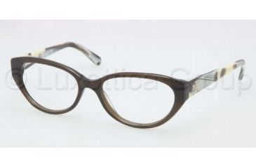 Tory Burch TY2021 TY2021 Bifocal Prescription Eyeglasses 1078-5016 - Olive Horn Frame, Demo Lens Lenses