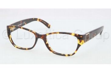 Tory Burch TY2022 TY2022 Single Vision Prescription Eyeglasses 1075-5116 - Amber Tortoise Frame
