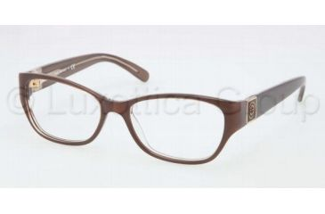 Tory Burch TY2022 TY2022 Single Vision Prescription Eyeglasses 933-5116 - Brown Frame, Demo Lens Lenses
