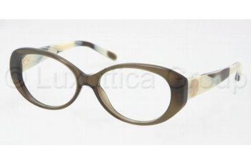 be6503fea0 Tory Burch TY2023 TY2023 Single Vision Prescription Eyeglasses 1078-5115 -  Olive Horn Frame