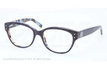 Tory Burch TY2040 Progressive Prescription Eyeglasses 1288-52 - Navy/tortoise Frame