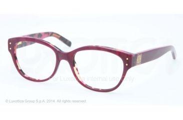 Tory Burch TY2040 Progressive Prescription Eyeglasses 1289-52 - Purple/tortoise Frame