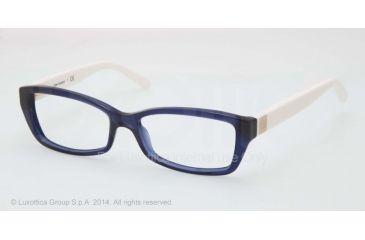 Tory Burch TY2041 Progressive Prescription Eyeglasses 1284-51 - Navy Ivory Frame