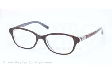 Tory Burch TY2042 Progressive Prescription Eyeglasses 1276-51 - Tortoise/white Frame