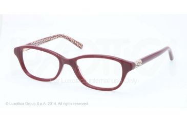 Tory Burch TY2042 Progressive Prescription Eyeglasses 1278-51 - Burgundy W T Print Frame