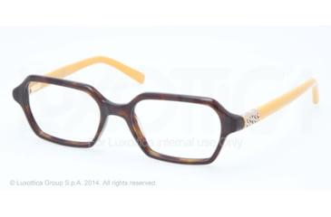 Tory Burch TY2043 Progressive Prescription Eyeglasses 1274-50 - Dk Tortoise Mustard Frame