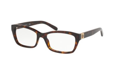 1d3a082d6849 Tory Burch TY2049 Single Vision Prescription Eyeglasses 1728-49 - Dark  Tortoise
