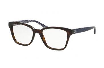 ac545ab113ae Tory Burch TY2052 Eyeglass Frames 1348-51 - Dark Tortoise/navy Frame