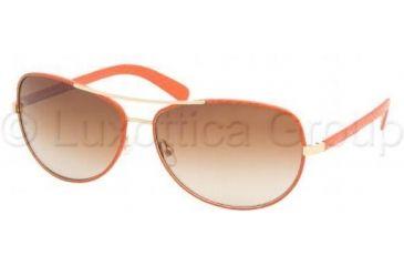 Tory Burch TY6013Q TY6013Q Progressive Prescription Sunglasses TY6013Q-940-13-6014 - Lens Diameter: 60 mm, Frame Color: Orange Leather