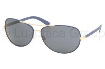 Tory Burch TY6013Q TY6013Q Progressive Prescription Sunglasses TY6013Q-941-87-6014 - Lens Diameter: 60 mm, Frame Color: Navy Leather